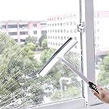 Wiper Blade Squeegee Window Cleaner Spray Cleaning Brush Glass Scratch Washing Brush for Car Window Door Floor (White)