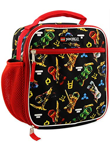 Price comparison product image Lego Ninjago Masters of Spinjitzu Boys Soft Insulated School Lunch Box (One Size,  Black / Red)