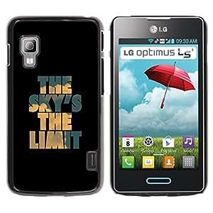 GOODTHINGS Funda Imagen Diseño Carcasa Tapa Trasera Negro Cover Skin Case para LG Optimus L5 II Dual E455 E460 - cielo azul límite negro de inspiración