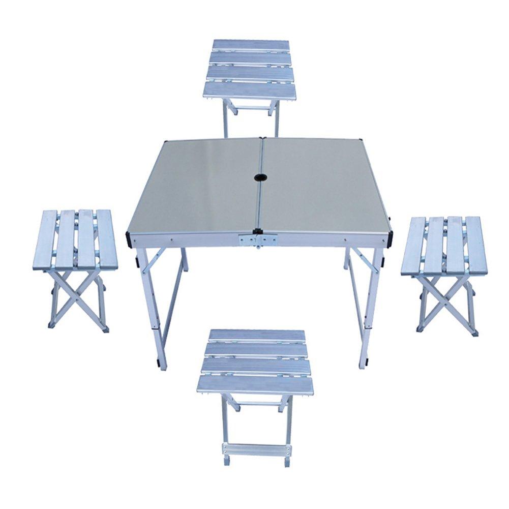 折り畳み式キャンプ自転車ツアーピクニックテーブルチェア屋外用ポータブルテーブルとチェアの組み合わせアクティビティショートラベルシート B07D5PJ5YN