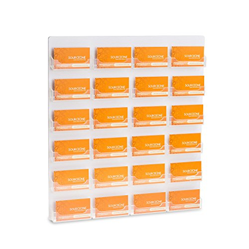 SourceOne Premium 24 Pocket Wall Mount Business Card Holder (Mount First Class Wall)