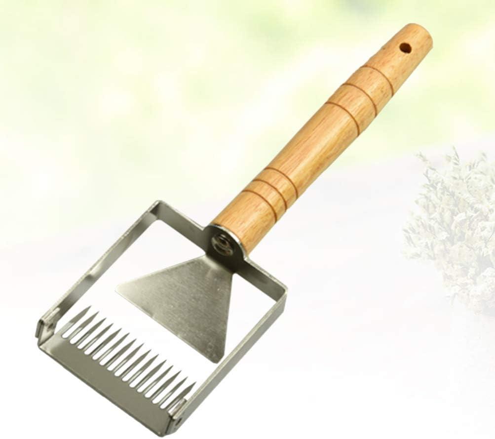 Yardwe honigschaber Schaufel Edelstahl erweitern bienenstock honigschleuder Schaufel holzgriff imkereiausr/üstung honigkamm Werkzeuge