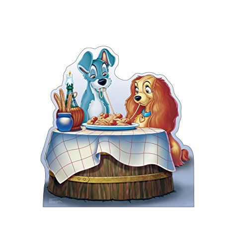 Advanced Graphics Lady and the Tramp Life Size Cardboard Cutout Standup - Disney's Lady and the Tramp