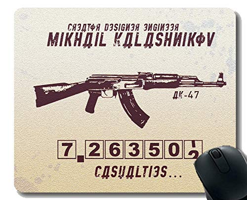Gaming Mouse Pad Custom,Weapon AK-47 Mouse Pad with Stitched Edge