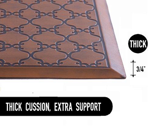 Licloud Anti-fatigue Mat Non-toxic Kitchen Floor Mat Comfort Mat Desk Mat (24x70x3/4-Inch, Antique Light) by Licloud (Image #1)
