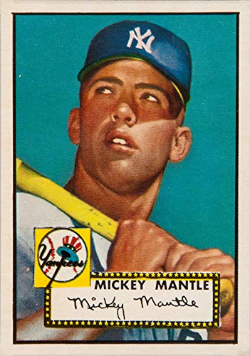1952 Topps 311 Mickey Mantle - 1952 Topps Mickey Mantle #311 Replica 13 X 19 Photo Print