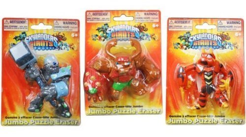 Skylanders Giants Puzzle Eraser Set 1 X Tree Rex, 1 X Crusher, and 1 X Swarm]()
