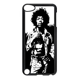 CTSLR Jimi Hendrix Protective Hard Case Cover Skin for iPod Touch 5 5G 5th Generation- 1 Pack - Black/White -5