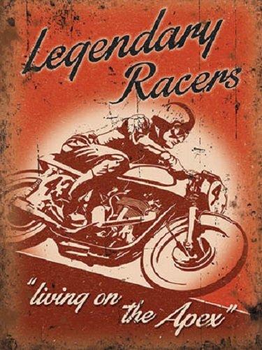 Legendary Racers Retro  cartel acero