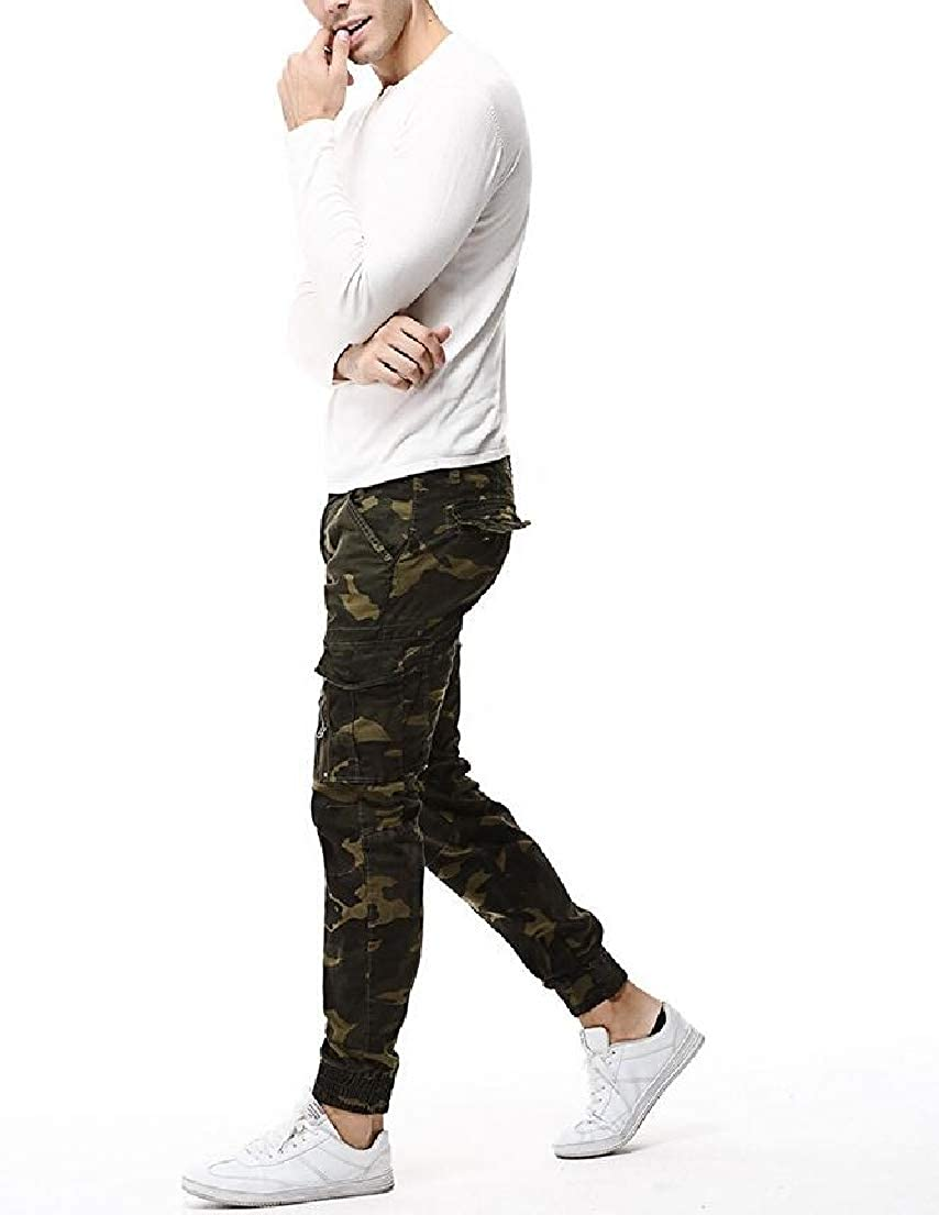 Vska Mens Pockets Collection Camouflage Stretch Oversize Pants 2 mm8as