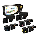 Catch Supplies Replacement High Yield 5 Pack Toner Set for the Dell E525W Series  2 Black 593-BBJX, 1 Cyan 593-BBJU, 1 Magenta 593-BBJV, 1 Yellow 593-BBJW 