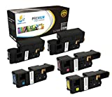 Catch Supplies Replacement High Yield 5 Pack Toner Set for the Dell E525W Series |2 Black 593-BBJX, 1 Cyan 593-BBJU, 1 Magenta 593-BBJV, 1 Yellow 593-BBJW|