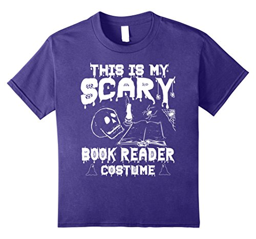 Kids This Is My Scary Book Reader Costume Funny Halloween T-shirt 8 Purple
