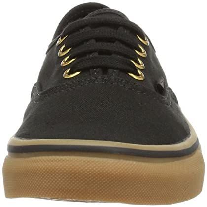 e17cad166e664f ... Vans Unisex Authentic Black Rubber Skate Shoe 11 Men US ...