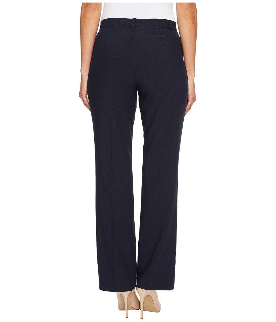 Tribal Women's Petite Flatten It Comfort Waist Soft Twill Straight Leg Pant, Navy, 2 Petite