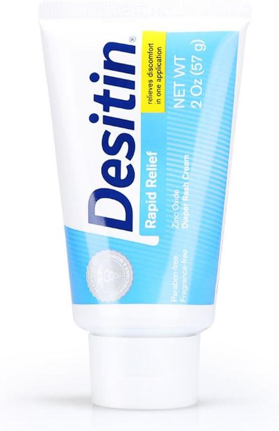 Desitin Rapid Relief Diaper Rash Cream, 2 Ounce Tube