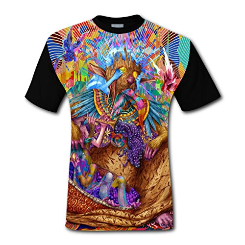 Psychedelic Hippy Art T-shirts Tee Shirt for Men Tops Costume Round (Hippy Costumes Ideas)
