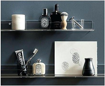 Blingsoul Clear Heavy Duty Floating Shelves – 6 Pack 15 Inches Acrylic Bathroom Shelf Shower Caddy, Nail Polish, Cosmetics Makeup Organizer Spice Rack, Kids Room Wall Decor Small Bookshelf Display