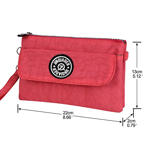 Purse Pouches Bag And Nylon Coin Cash Red Organiser Sport Key Phone Wocharm Women's Watermelon Purses Wristlet Handbag Portable OUIzzq
