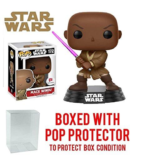 Funko Pop  Star Wars  Mace Windu  172  Walgreens Exclusive  Vinyl Figure  Bundled With Pop Box Protector Case