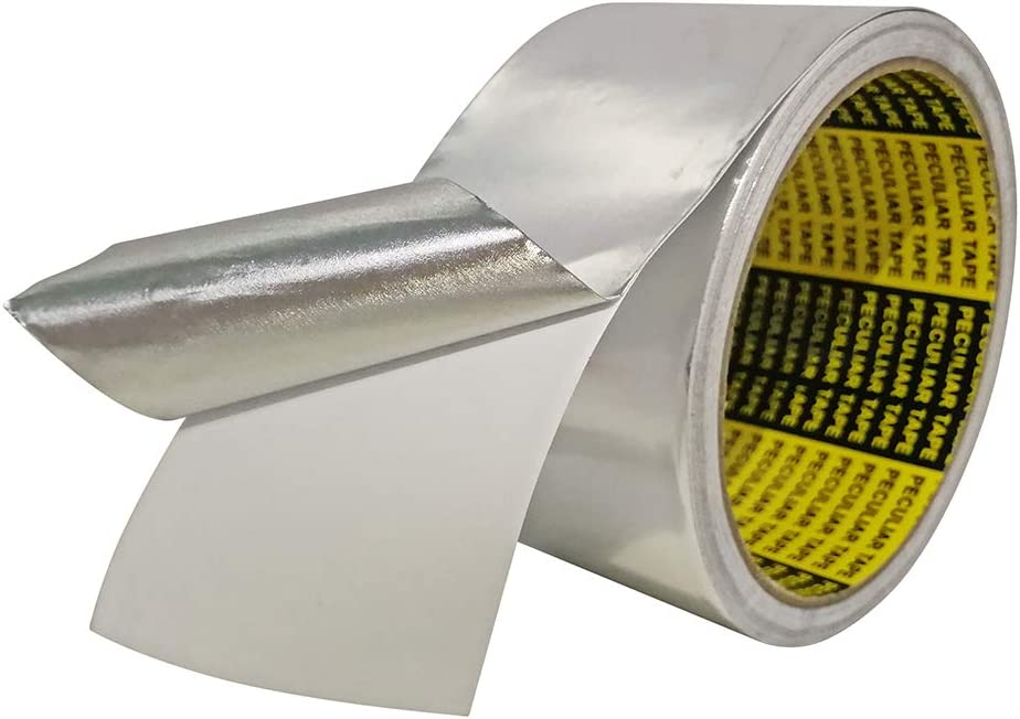 HEATIT Aluminum Foil Tape Professional Grade - 2 inch x 30 feet 6.4 mil Thick(3.5 mil foil Thick and 2.9 mil Backing Thick) for HVAC, Ducts, Pipes, Metal Repair, Pipe Heating Cable Application etc