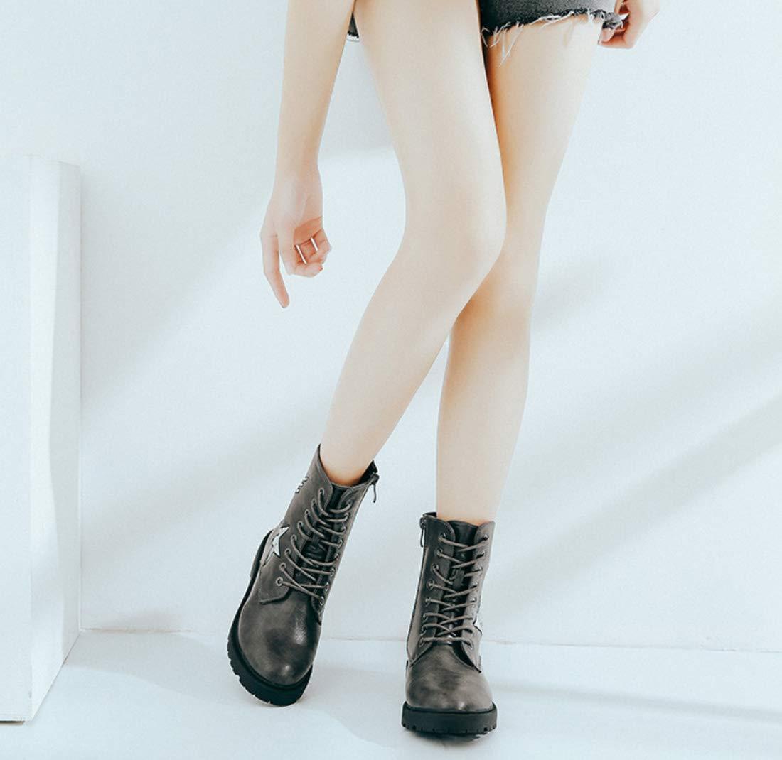DANDANJIE Damenschuhe Fallen Winter Winter Winter Comfort Stiefel Low Heel Geschlossene Zehen Stiefelies Knöchelstiefel 3156f9