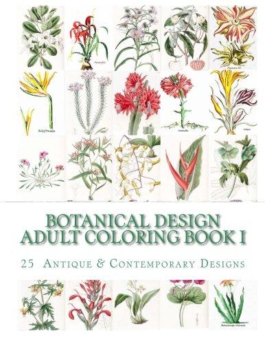 Botanical Design Adult Coloring Book #1