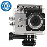 Captcha Action Camera 1080P Sport Waterproof Camcorder Outdoor Action Video Camera Compatible With All Smartphones (Color May Vary)
