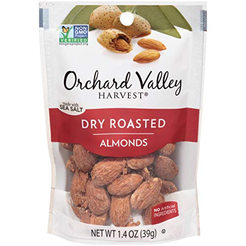 Orchard Valley Harvest, Almonds, Whl, Dry Rosted, Sea salt, Pack of 14, Size - 1.4 OZ, Quantity - 1 ()