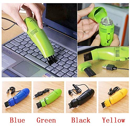 EoCot Mini Computer Vacuum USB Keyboard Cleaner PC Laptop Brush Dust Cleaning Kit Yellow by EoCot