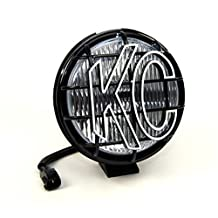 KC HiLiTES 1134 97-04 JEEP Wrangler TJ Replacement Single Fog Light, 55W 6-Inch, Apollo Pro with Integrated Stone Guard