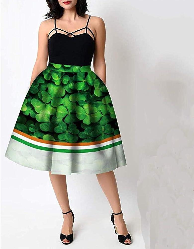 Lenfesh_Vestidos Falda para Mujer, Lenfesh Mini Falda Verde para ...