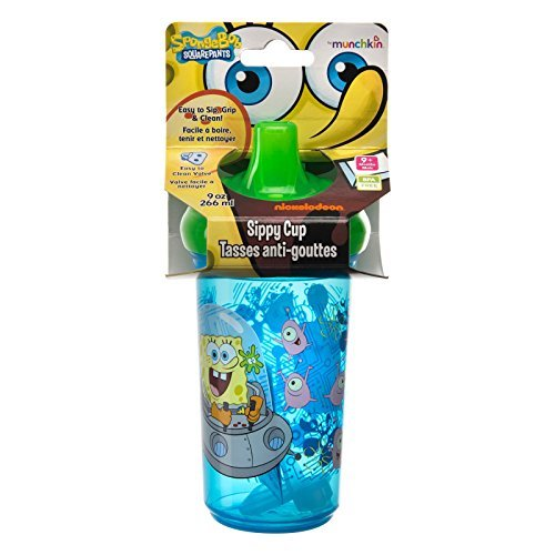 Munchkin, SpongeBob Squarepants Sippy Cup, 9 oz (266 ml) (Pack of 2)