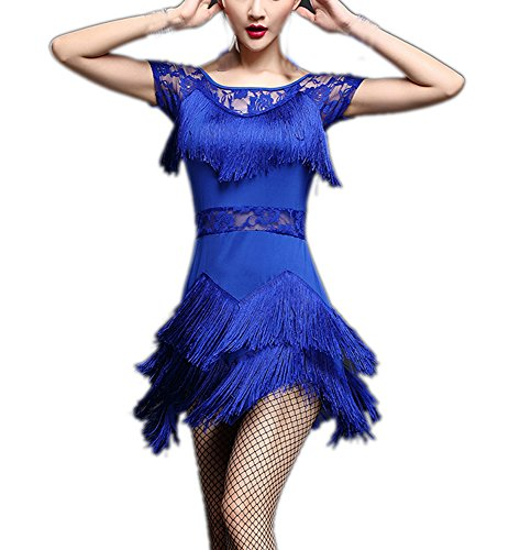 Rumba Ballroom Samba Ice Salsa Dance Routines Class Collection Outfits Dresses Blue