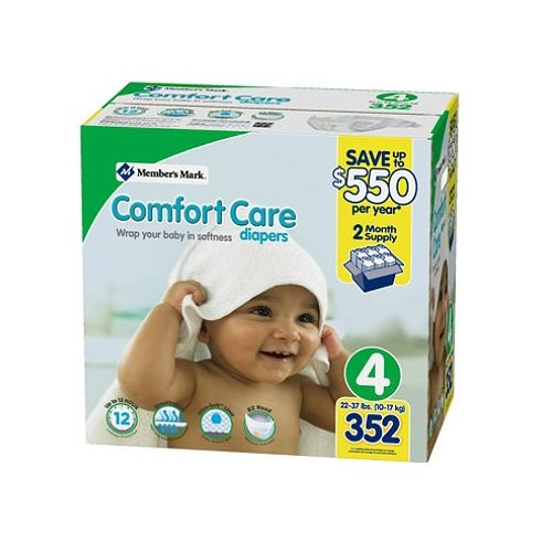 Member's Mark Comfort Care 2 Month Supply Size 4 Diaper (352 ct.) by Member's Mark