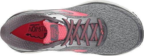 Brooks Damen Adrenaline GTS 18 Overpronation Stablility Laufschuh Ebenholz / Silber / Pink