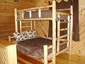 Original Twin over Full Double Rustic Cedar Log Bunk Bed