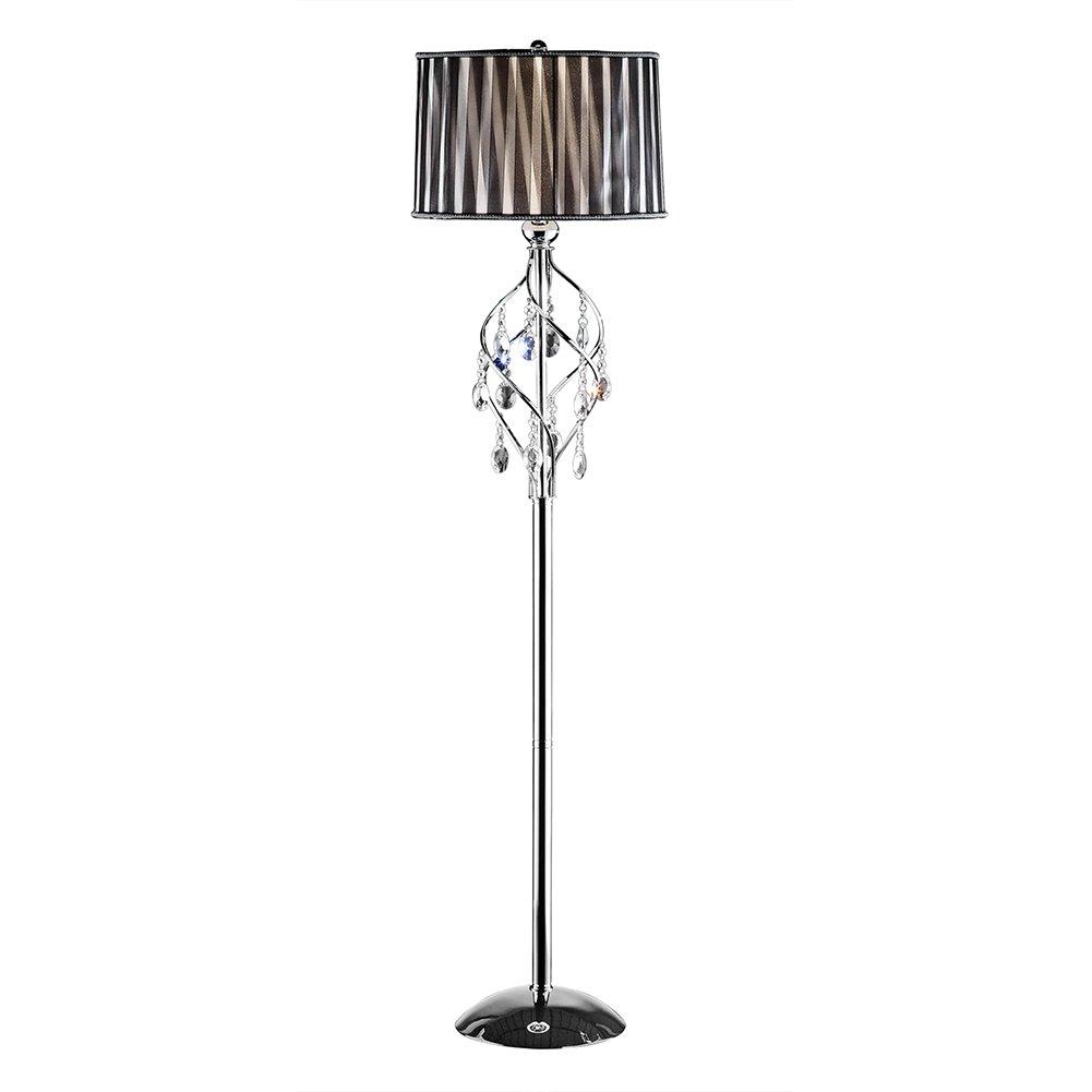 OK-5123f 63-Inch Lady Crystal Floor Lamp