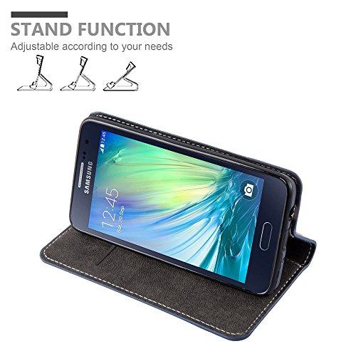 Cadorabo - Funda Estilo Book para Samsung Galaxy A5 (5) (Modelo 2015) de Diseño gamuza-Artificial / Cuero-Artificial con Tarjetero, Función de Soporte y Cierre Magnético Invisible