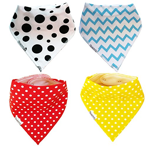 Amazon.com: Bandana Drool Bibs for Infants Toddlers - 4Pack ...