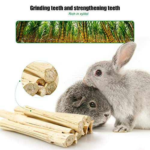 8 Pieces Rabbit Chew Toys, Bunny Molar Chew Toys for Teeth, Apple Wood Molar Skewers, Timothy Hay Balls, Sweet Bamboo, Rattan Balls and Carrot Toys, Suitable for Rabbits Guinea Pigs Small Pets