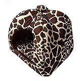 Yaloee Soft Pet Cat Rabbit Bed Dog House Kennel Doggy Warm Pet House Sofas Cushion
