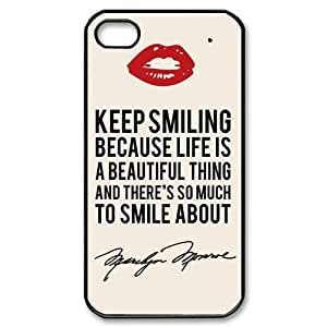 Marilyn Monroe Tattoo Power Supply iPhone 4 4S Perfect Color Match Cover Case for Fans