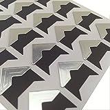 Hellohelio Self-Adhesive Photo Corners (Pack Of 240) Silver