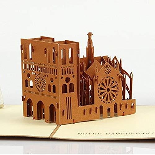 canghai France Retro Notre Dame Cathedral Paris 3D