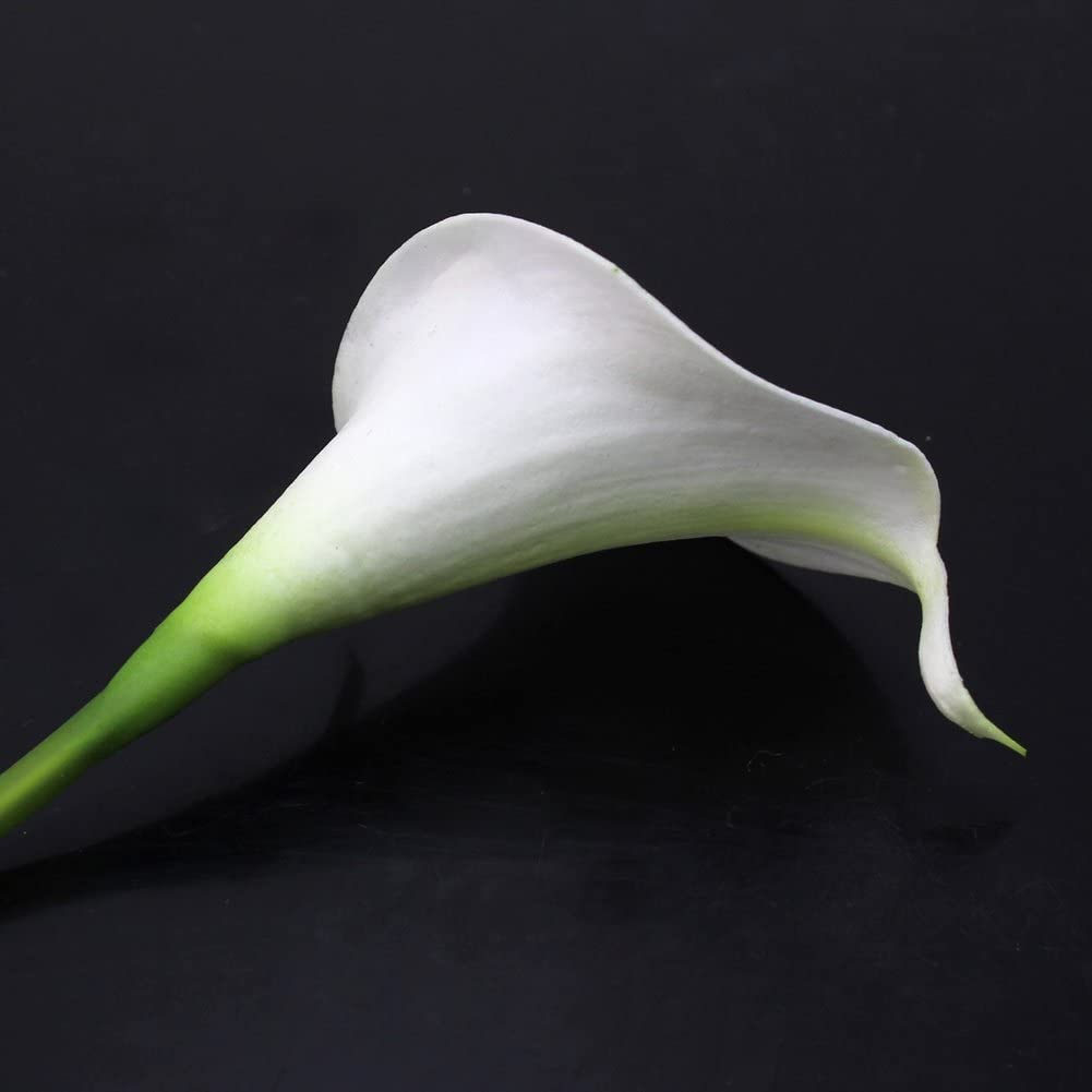 Calla Lily Bridal Wedding Party Decor Bouquet 20 heads Latex Touch Flower Bunch R SODIAL