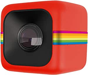 Polaroid Cube Act II HD 1080P Mountable Weather-Resistant Lifestyle Action Video Camera (Red) 6MP Still Camera w/ Image Stabilization, Sound Recording, Low Light Capability & Other Updated Feature