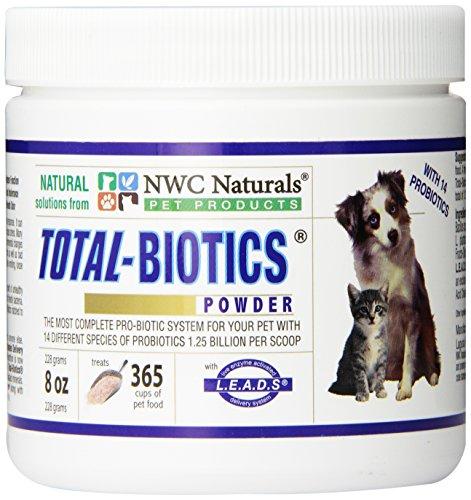 NWC Naturals- Total-Biotics- Probiotics for Dogs and Cats - Treats 365 Cups of Pet Food