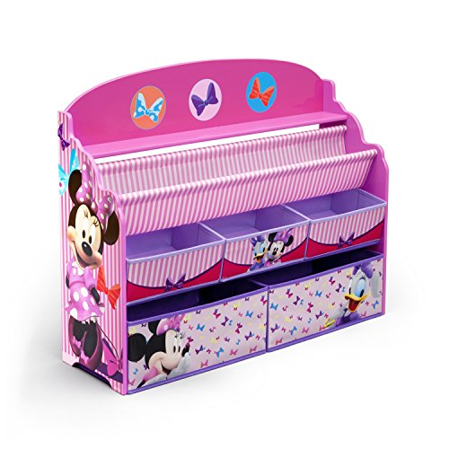 Cheap Kitchen & Dining Features delta children deluxe book toy organizer disney minnie mouse
