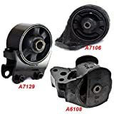 K32-03 : Fits 2001-2006 Kia Optima 2.4L Front & Rear Engine Motor Mount 3 PCS 2001 2002 2003 2004 2005 2006 A7129 A6108 A7106
